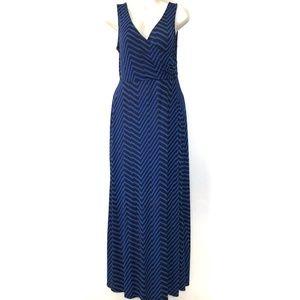 Gilli Maxi Dress Size Med Stitch Fix Blue Striped